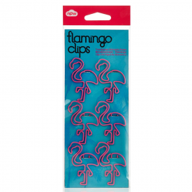 Flamingo Pink Paper Clips, Set of 6