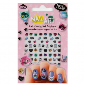 Nail Art Stickers Cat Crazy