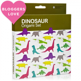 Origami Multi-coloured Dinosaurs Set