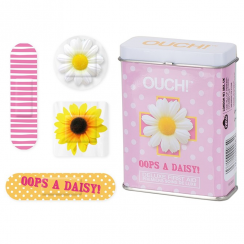 Ouch! Daisy Plasters in Tin