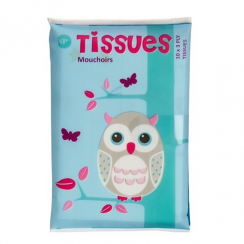 Owl Printed Tissues, 3 Ply