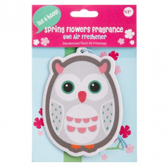 Owl Spring Flowers Air Freshener