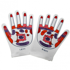Pink Cotton Reflexology Massage Gloves