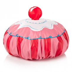 Pink Cupcake Fun Shower Cap