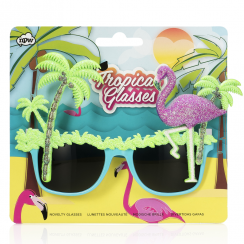 Tropical Glasses, Flamingo Style