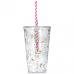 Unicorn Glitter Drinks Bottle