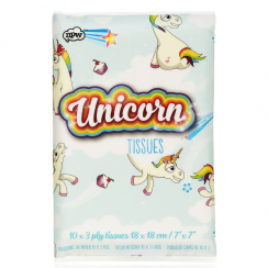 Unicorn Printed Tissues, 3 Ply