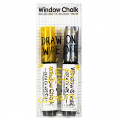 Window Chalk Duo, Silver & Gold