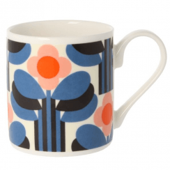 Art Deco Orange Mug