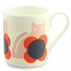 Cat Poppy Bone China Mug