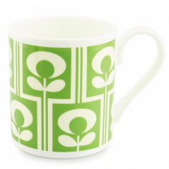 Climbing Flower Oval Green Mug