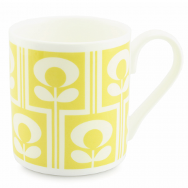 Climbing Flower Oval Yellow Mug