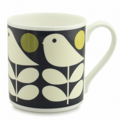 Early Bird Dark Navy Large China Mug