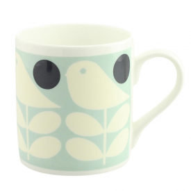 Early Bird Light Blue China Mug