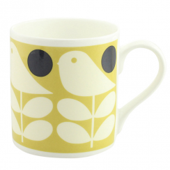 Early Bird Yellow China Mug