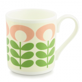 Flower Oval Stem Green Mug