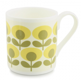 Flower Oval Yellow Mug