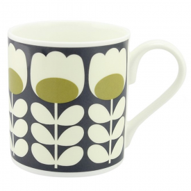 Green Tulip Stem Mug
