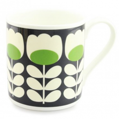 Large Green Tulip Stem Mug
