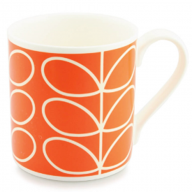 Large Linear Stem Orange Mug
