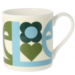 Large Love Green Mug