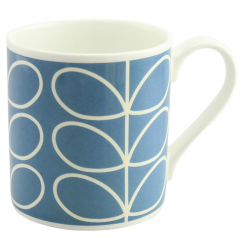 Large Periwinkle Blue Linear Mug