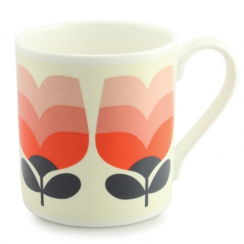 Large Poppy Tonal Striped Tulip Mug