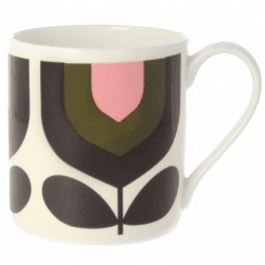 Large Stripe Tulip Bubblegum Mug