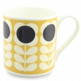 Large Yellow Poppy Stem Mug