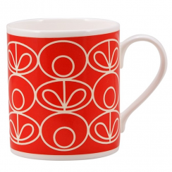 Linear Flower Red Mug