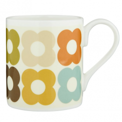 Multi Flower Design Mug