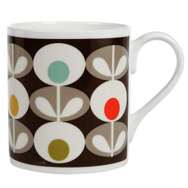 Multi Oval Bone China Mug