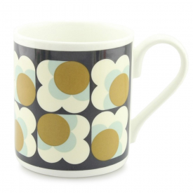 Ochre Big Spot Flower Mug