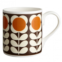 Orange Poppy Stem Mug