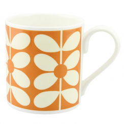 Orange Sixties Stem Mug