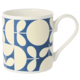 Patchwork Dark Blue Mug
