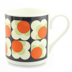 Persimmon Big Spot Flower Mug