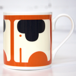 Persimmon Elephant Bone China Mug