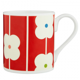 Red Abacus Flower Mug