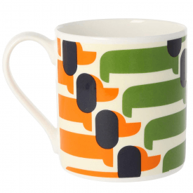 Sausage Dog Orange Large Mug