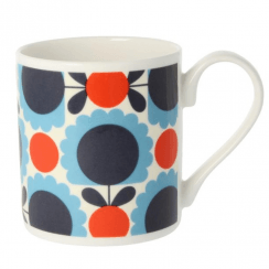 Scallop Flower Spot Blue Red Mug