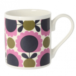 Scallop Flower Spot Purple Olive Mug