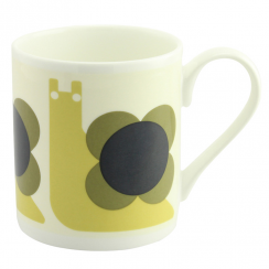 Snail Olive Bone China Mug