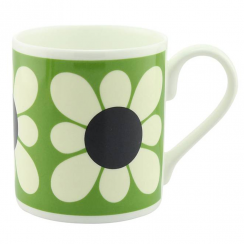 Square Daisy Flower Green Mug