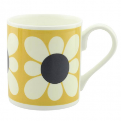 Square Daisy Flower Yellow Mug