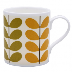 Stripe Stem Bone China Mug