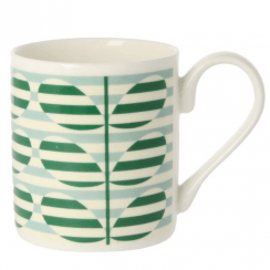 Stripe Stem Green Mug