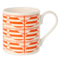 Stripe Stem Orange Mug