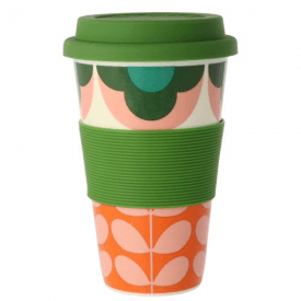 Summer Flower Stem Pink Green Travel Mug