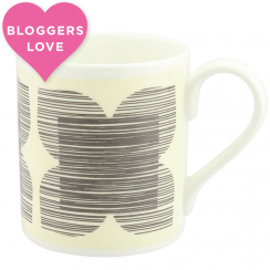 Textured Flower Grey Mug